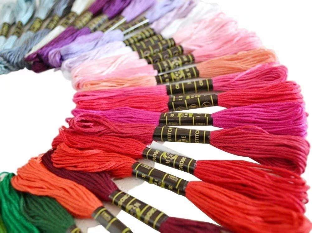 Embroidery Threads Floss Sticken Set Weicher Baumwollgarn Garn f/ür Freundschaftsb/änder Stickerei Kreuzstich Basteln N/ähgarne H/äkeln 8M 6-F/ädig Mitening Stickgarn 150 Farben