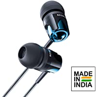 Evidson B4 in-Ear Rich Bass Headphones with Mic (Blue)
