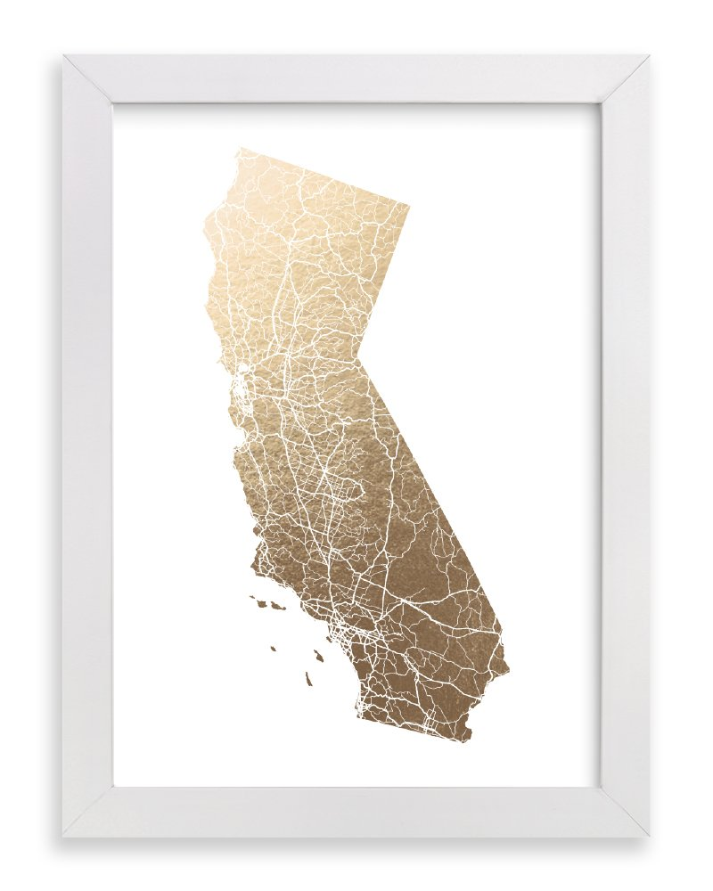 Minted California State Framed Foil-Pressed Art Print 23