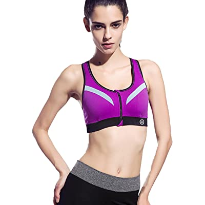 Butio Women Push up Shockproof Top Underwear with Pad Gym Fitness Jogging Yoga Shirt