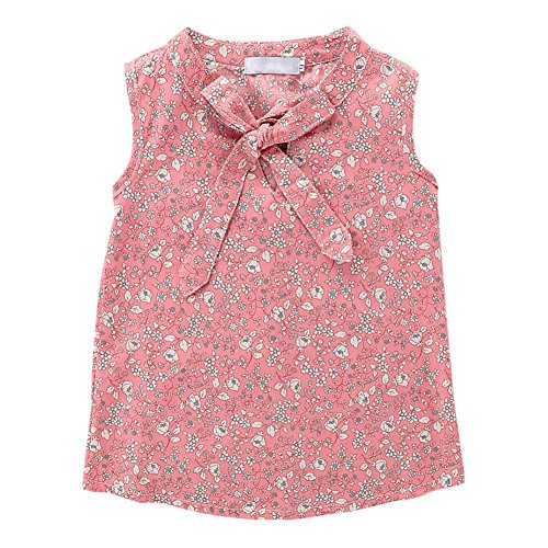 Soly Tech Kids Girl 2 Pieces Outfits Sleeveless Floral Print Tank Top Vest and Belt Shorts by Soly Tech (Image #2)