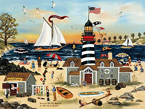 Ceaco Jane Wooster Scott – Beacon on The Beach Puzzle