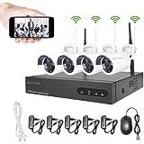 960P Kit Camaras Seguridad Vigilancia WiFi Aottom WiFi Kit Videovigilancia, Sistemas de Seguridad Inalambrico (4CH 1080P…