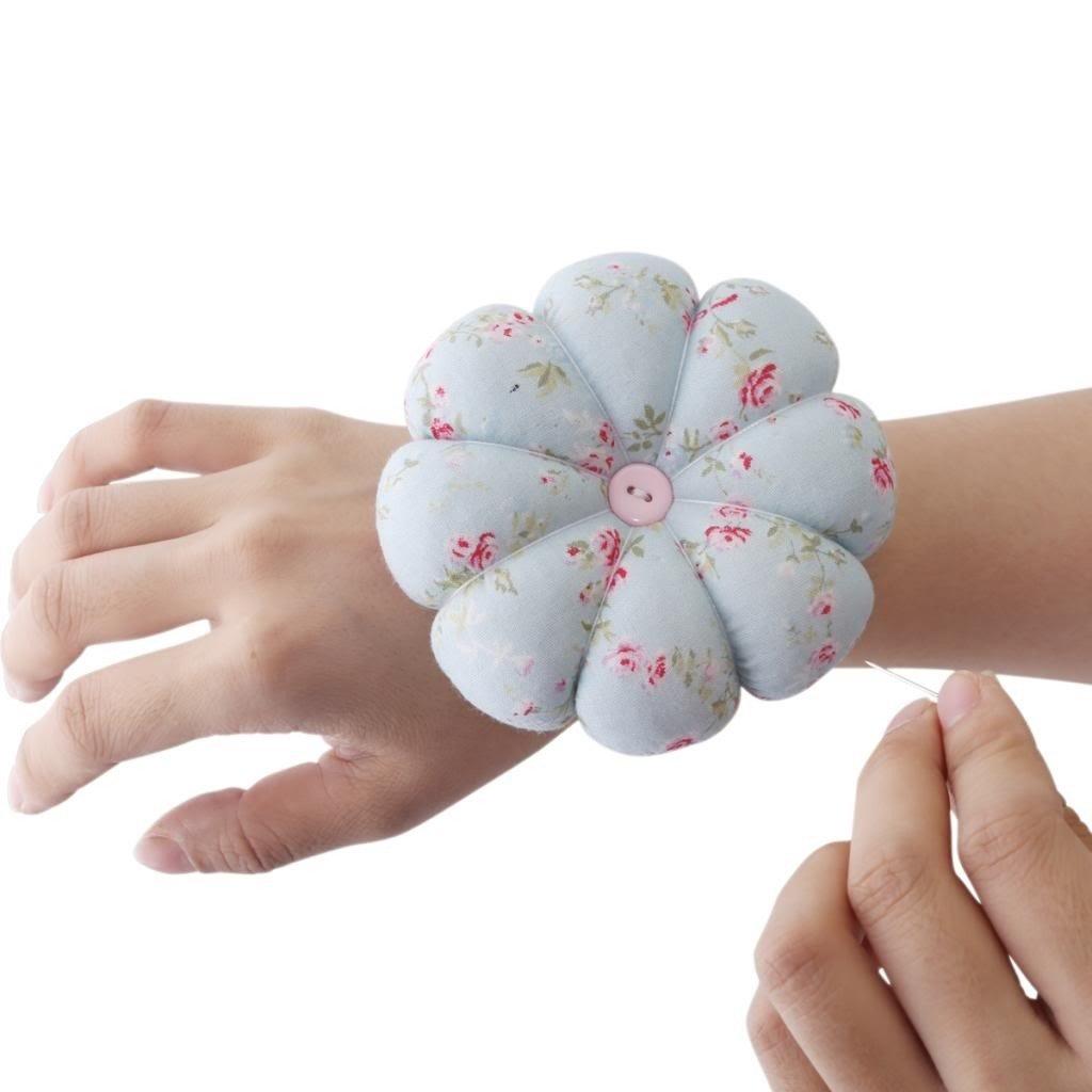 Payviva Handcrafts Pumpkin Pin Cushion Stick Sewing Cute 2green