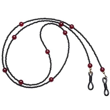 CUTICATE Cuerda De Gafas De Sol Elegantes con Cuentas De Cordón De Gafas De Lectura Cuerda