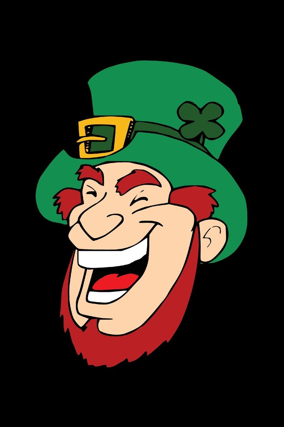 """Read Online Blank Notebook - 100 Pages - Leprechaun on Black: Unruled; Unlined White Paper; 6"""" x 9""""; 15.2 cm x 22.9 cm; 50 Sheets; Page Numbers; Table of Contents; Diary; Journal; St Patrick's Day PDF"""