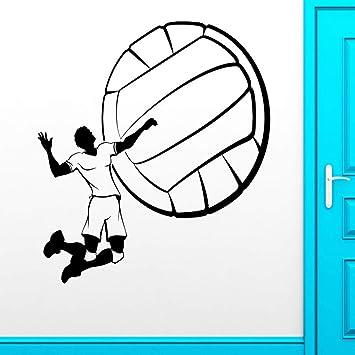 TYLPK Papel de pared calcomanías de vinilo juego de voleibol ...