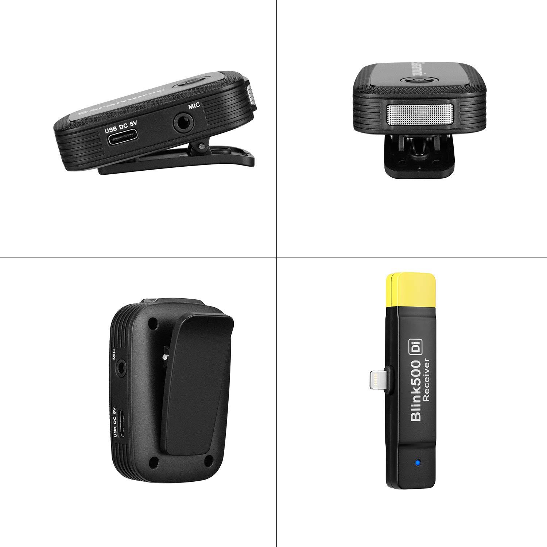 Saramonic blink 500 microteléfonos de doble canal TX + TX + RX ...