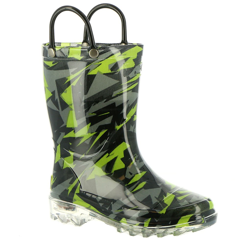 Western Chief Scatter Camo Lighted Boys' Toddler-Youth Boot 10 M US Toddler Black
