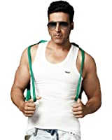Dollar Bigboss Men Cotton Vest-Pack of 5 White Vest