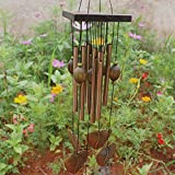 Wall of Dragon Heart Bronze 8 Tubes Wood Chapel Church Bells Wind Chimes
