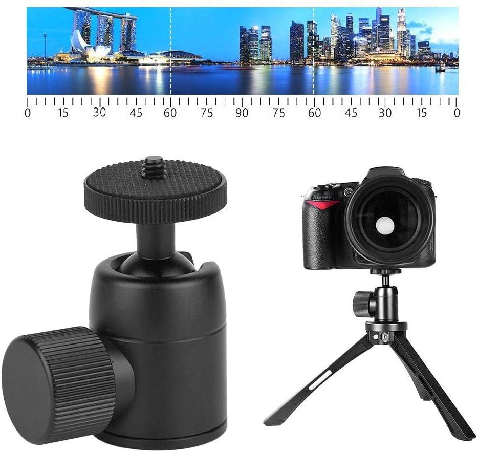 Black Spherical Ball Head VBESTLIFE D-3 Mini 360/° Rotatable Spherical Camera Ball Head Qinlorgo Ball Head