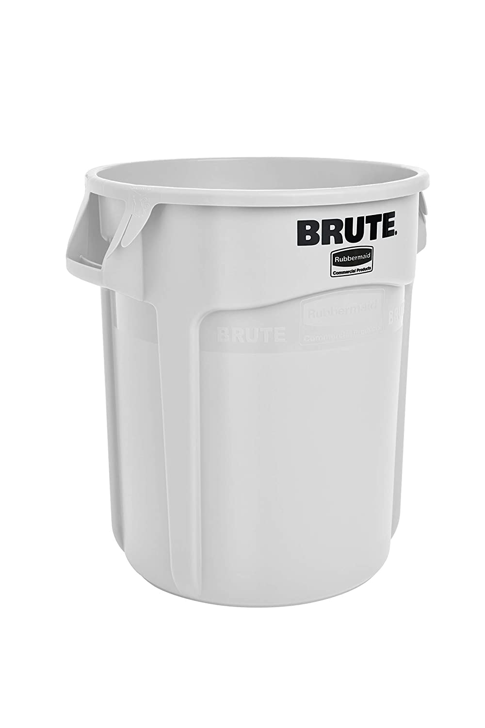 Rubbermaid Commercial Products FG261000WHT Brute Heavy-Duty Round Trash/Garbage Can, 10-Gallon, White