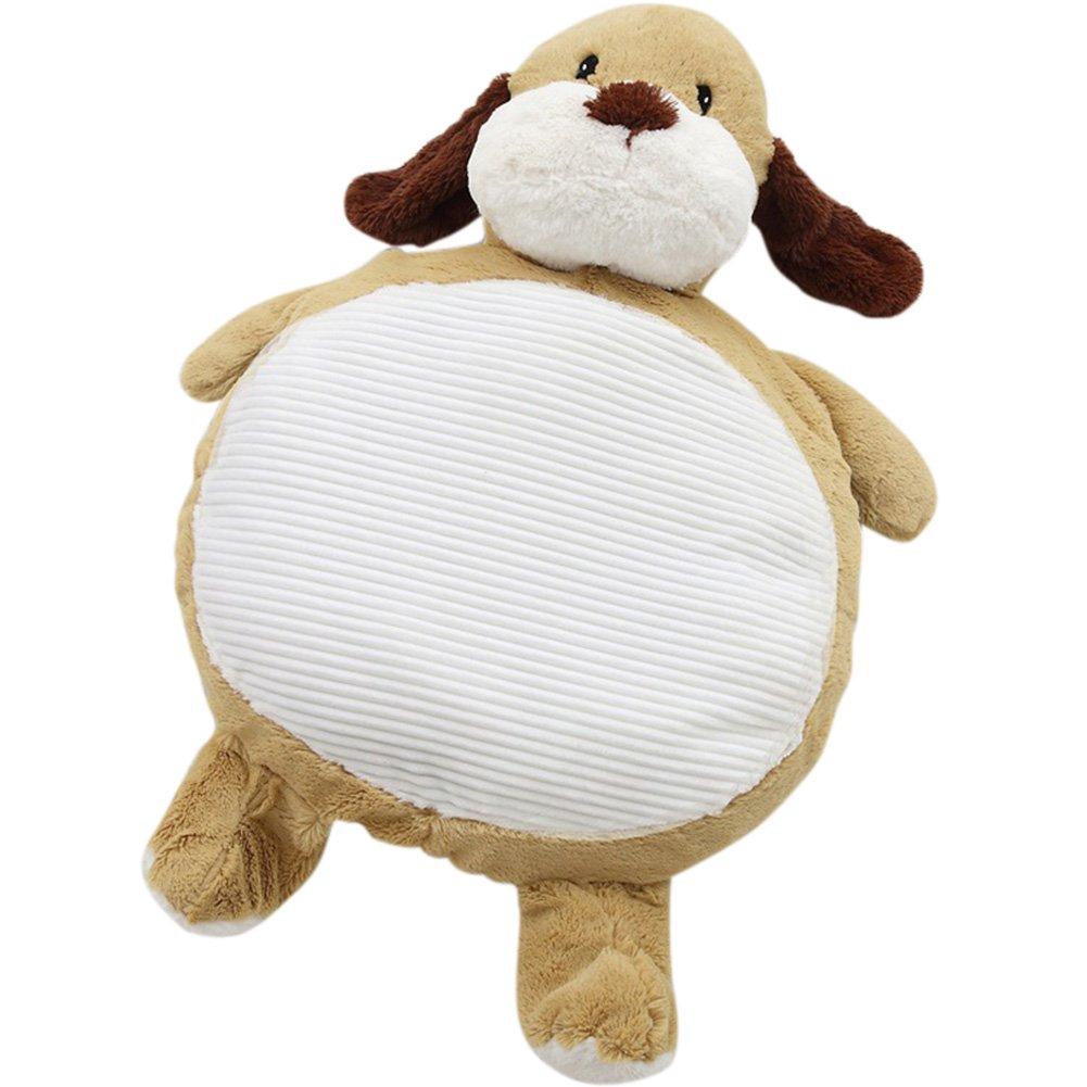 Exttlliy Cute Plush Animals Shape Decorative Floor Pillow Cushion Stuffed with PP Cotton for Children (Dog)