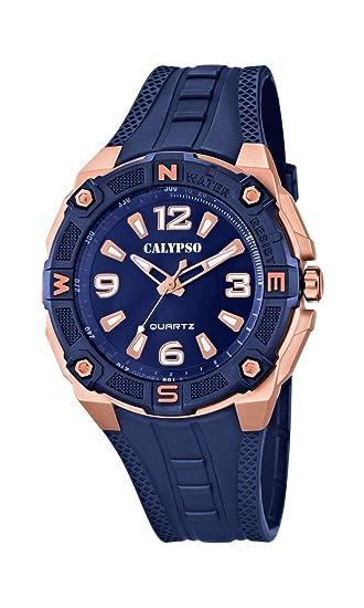 Calypso Reloj Análogo clásico para Hombre de Cuarzo con Correa en Plástico K5634/A