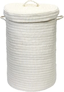 """product image for Colonial Mills Ticking Stripe Solids Hamper, 18"""" x 18"""" x 30"""", Canvas"""