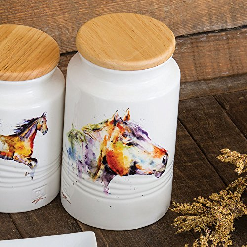 horse head western canister western kitchen tableware