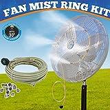 Mistcooling Fan Mist Kit - Low Pressure Misting Ring - DIY Fan Mist Ring with Brass/Stainless Steel Nozzles