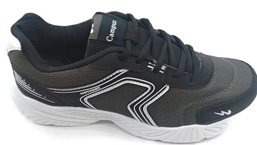 Campus Dura-720 Men's Black Sports Shoe