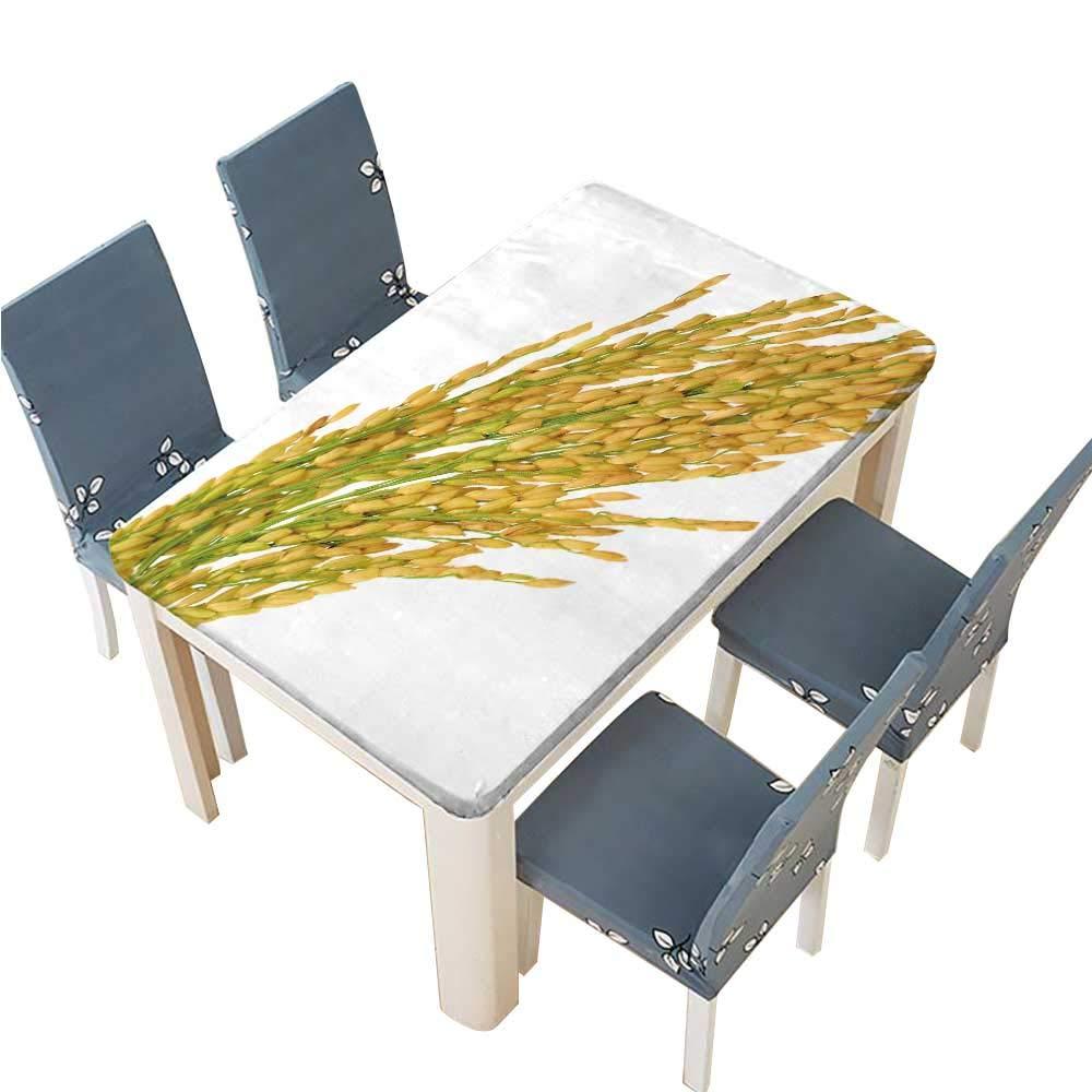 PINAFORE テーブル 洗濯可能 ポリエステル パディライス ホワイト背景 宴会 結婚式 レストラン テーブルクロス 幅25.5×長さ65インチ (エラスティックエッジ) W41