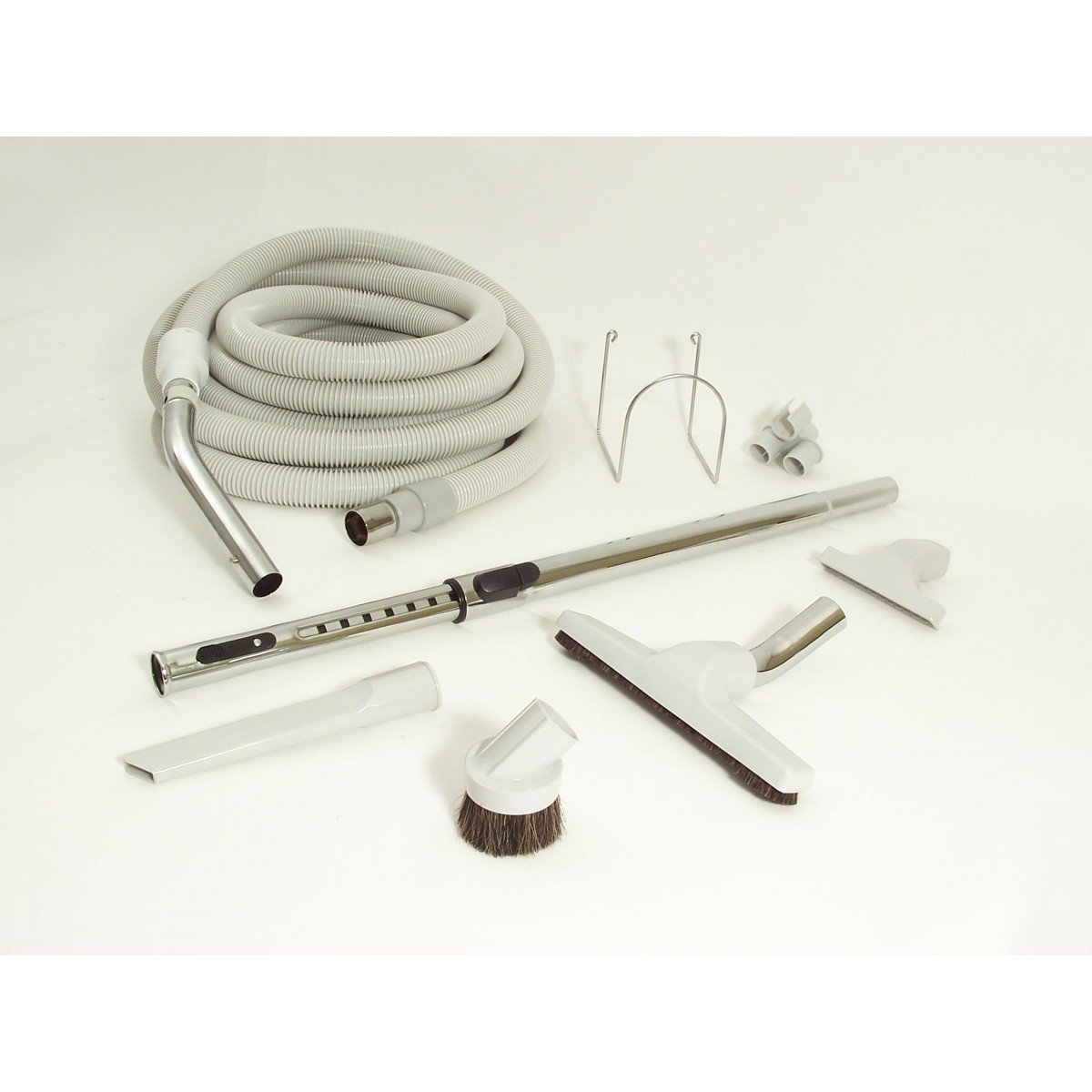 CENTRAL VACUUM KIT - 30' HOSE REGULAR - TOOLS AND WAND - GREY Johnny Vac
