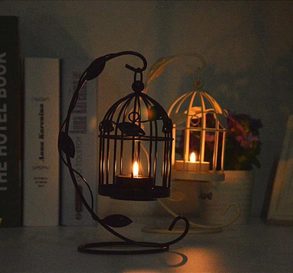 LAAT Candle Holder Birdcage-shape Metal Tealight Lanterns LED Wedding ChristmasTable Home Decoration by LAAT (Image #6)
