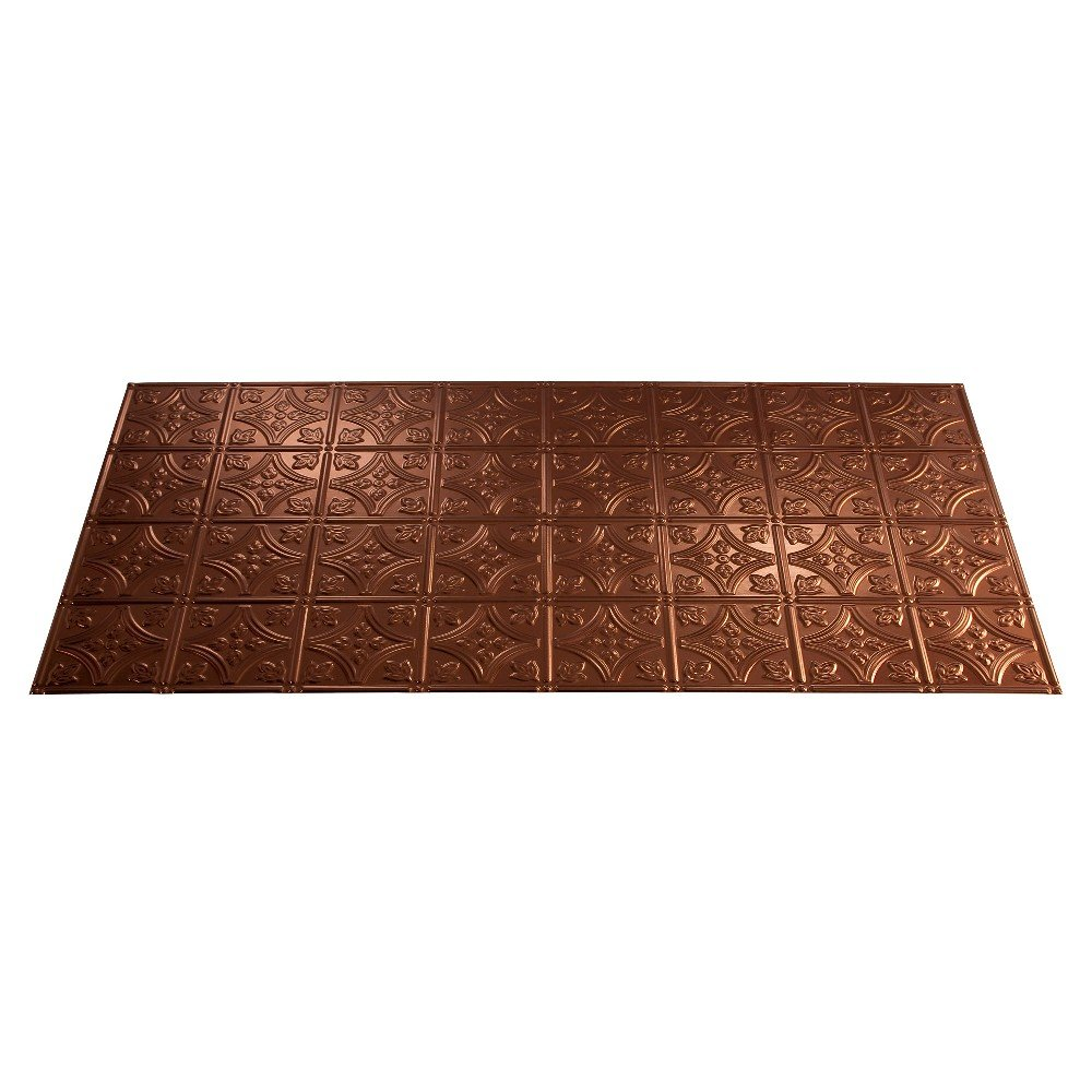 Fasade Easy Installation Traditional 1 Oil-Rubbed Bronze Glue Up Ceiling Tile / Ceiling Panel (2' x 4' Panel) by FASÄDE (Image #3)