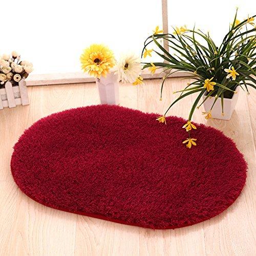 Oval Ellipse Shape Rug Artic Velvet Mat with Plush and Fluff for Bedroom Floor Bathroom Pets Home Hotel Mat Rug(20