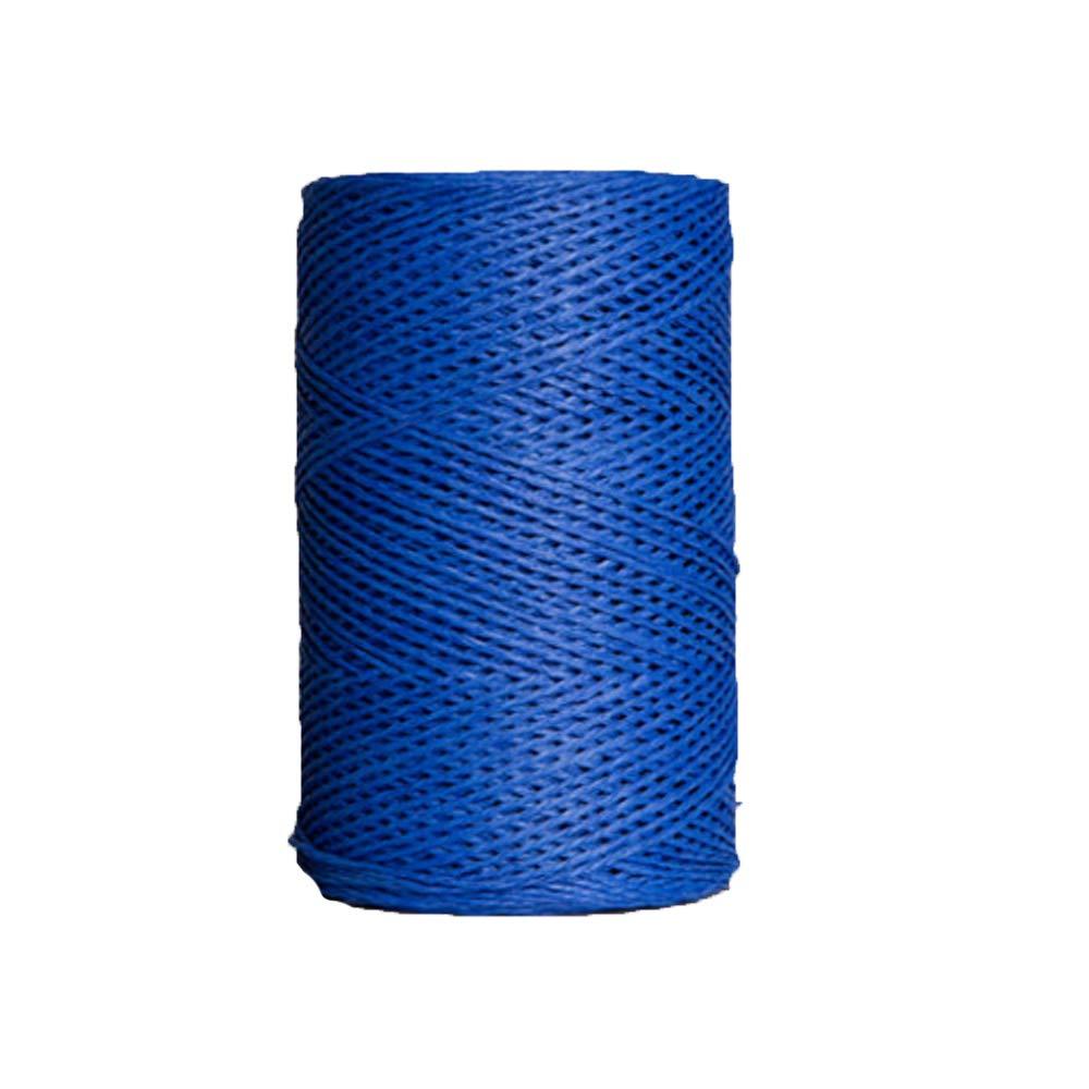 Crochet Summer Sun Hat Yarn Blue DIY Knit Yarn Straw Raffia Yarn Natural Raffia Twine String Ribbon for Craft, Packing, Wrapping Gifts 500g/1.1lb by Rayon Crochet Raffia Yarn