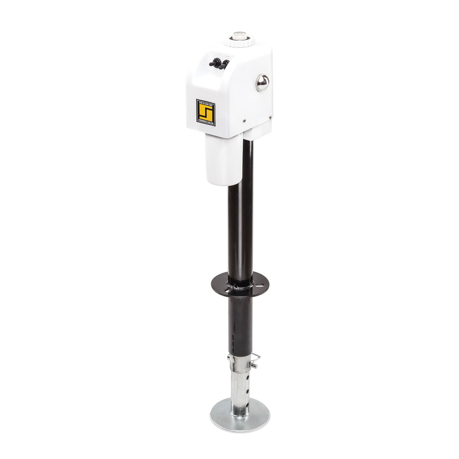 Stromberg Carlson White JET-3555 3500 lb. Electric Tongue Jack with Light by Stromberg Carlson
