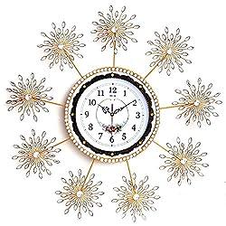 MEIDA Modern Crystal Handmade Wall Clock 2937(Sunburst 1)