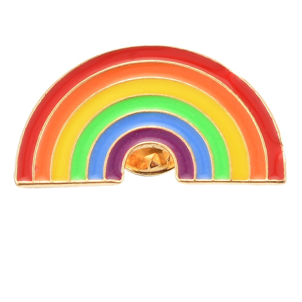 Souarts Womens Colorful Rainbow Enamel Brooch Pin Badge for Clothes Bags Backpacks Lapel Pin Hellocrafts