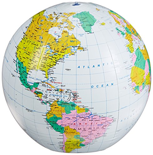 """Small World Toys Nature - Inflatable Political Globe, 16"""""""