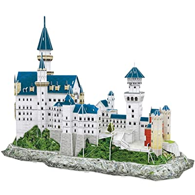 CubicFun 3D Neuschwanstein Castle Puzzles for Adults and Teens, Germany Architecture Building Model Kits Toys Stress Relief Gifts for Women and Men, 121 Pieces: Varios: Toys & Games
