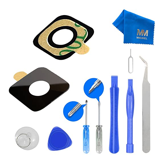 MMOBIEL Back Rear Camera Real Glass Lens Cover Replacement Complet Set for HTC ONE M9 + Pre-Installed 3M Adhesive +Toolkit for HTC + MMOBIEL Cleaning ...
