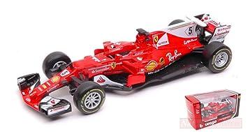 Burago BU36803V FERRARI SF16H S. Vettel 2016 N.5 1:43 ...