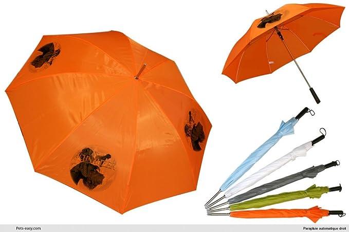 Paraguas de Golf, diseño de perro Schnauzer-gigante, naranja (Naranja) -