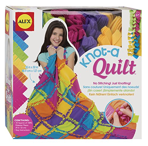 What to buy a 9 year old girl for her birthday? ALEX Toys Craft Knot A Quilt Kit