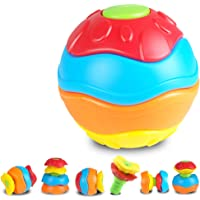 Qiyun Deformation Ball Funny Grasping Baby Kids Crawling Toy Mini Ball Deformation Puzzle Disassemble Creative Mounted Puzzle Educational Toy