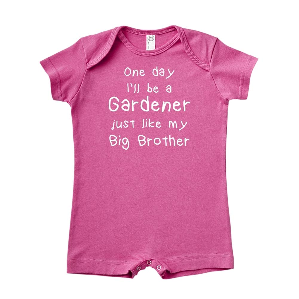 Baby Romper One Day Ill Be A Gardener Just Like My Big Brother