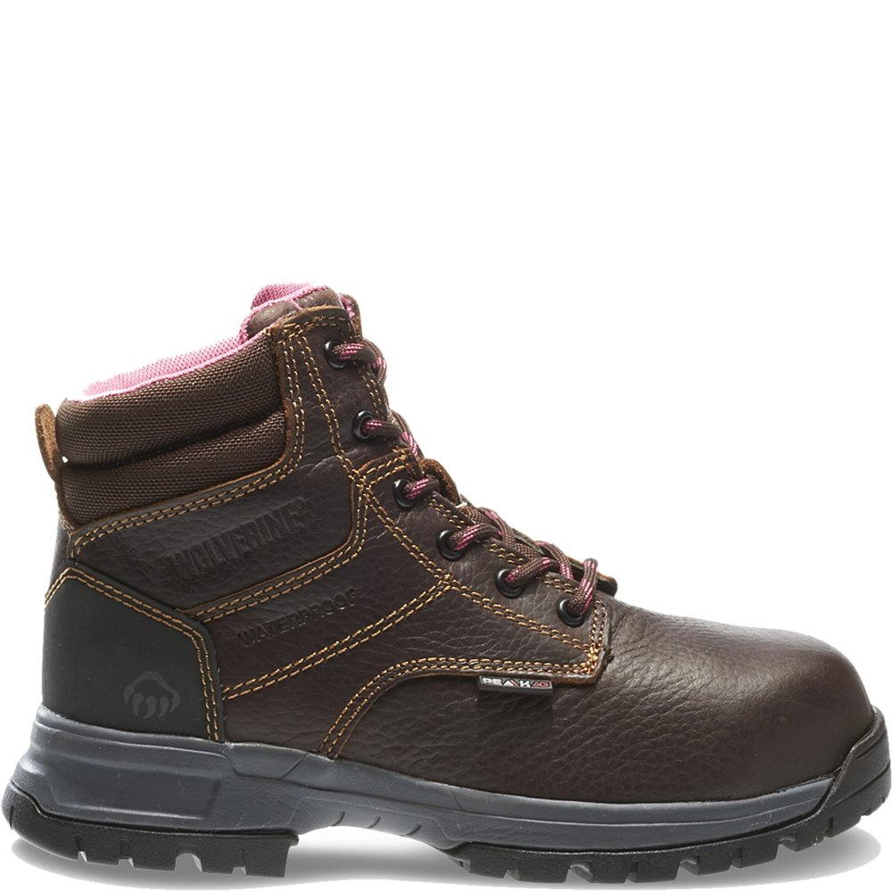 Wolverine Women's W10180 Piper Safety Toe Work Boot, Brown, 10 M US