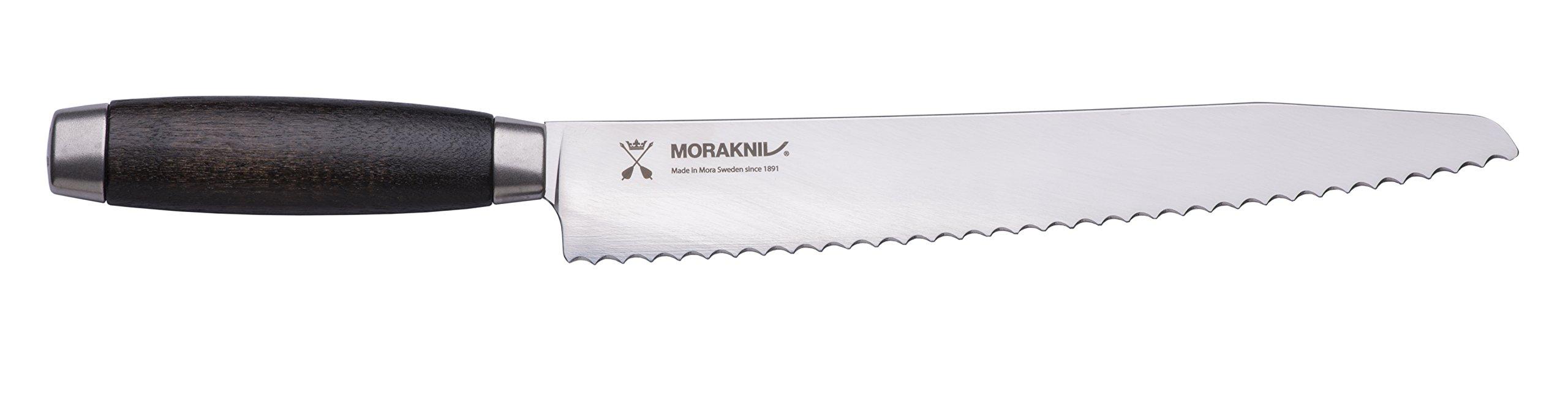 Morakniv Classic 1891 Bread Knife with Sandvik Stainless Steel Blade, 9.7 Inch, Black