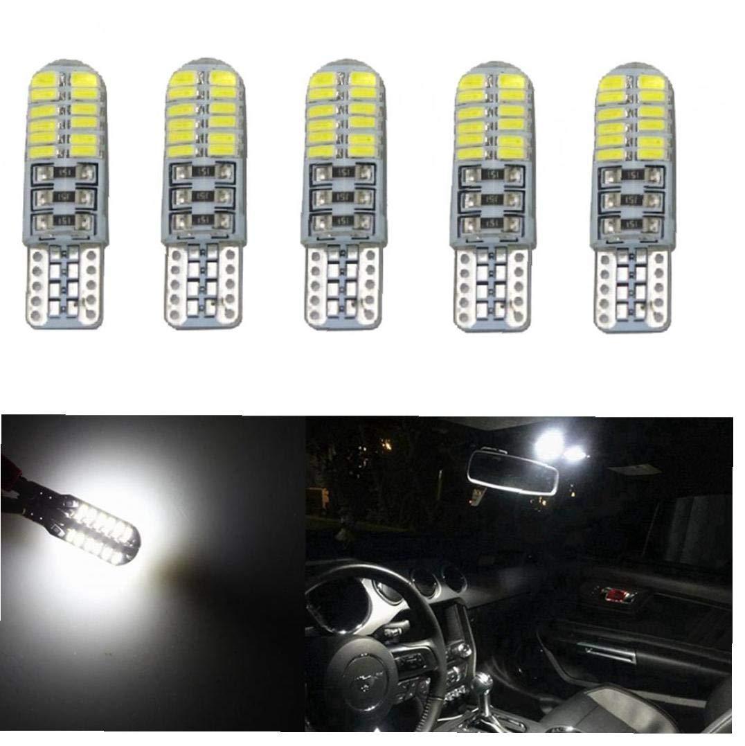 YZLSM 24 Ampoules Led D/ôme Licence Dint/érieur Porte Lumi/ères 3w T10 Silicone Canbus Carte Distributeur Automatique De Harnais Pour Chien