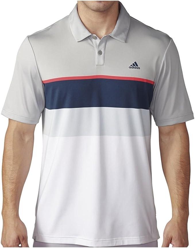 adidas Climacool diseñado del Golf Hombres Polo a Rayas para ...