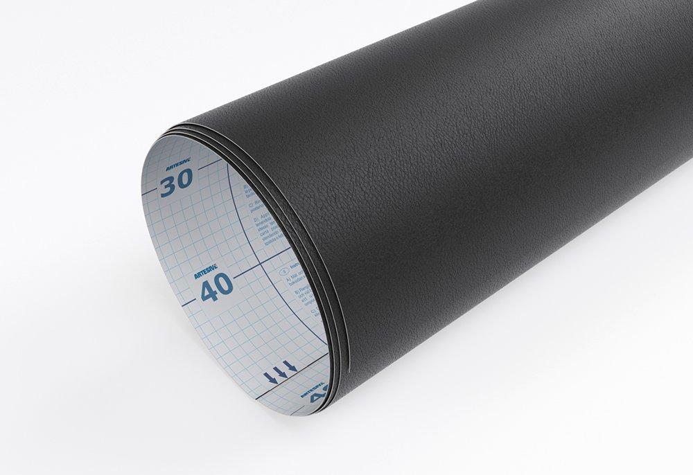 Artesive TEC-022 Pelle Nera larg Pellicola Adesiva cuoio 60 cm x 2,5 mt