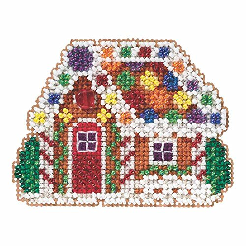 Gingerbread Cottage Beaded Counted Cross Stitch Christmas Or