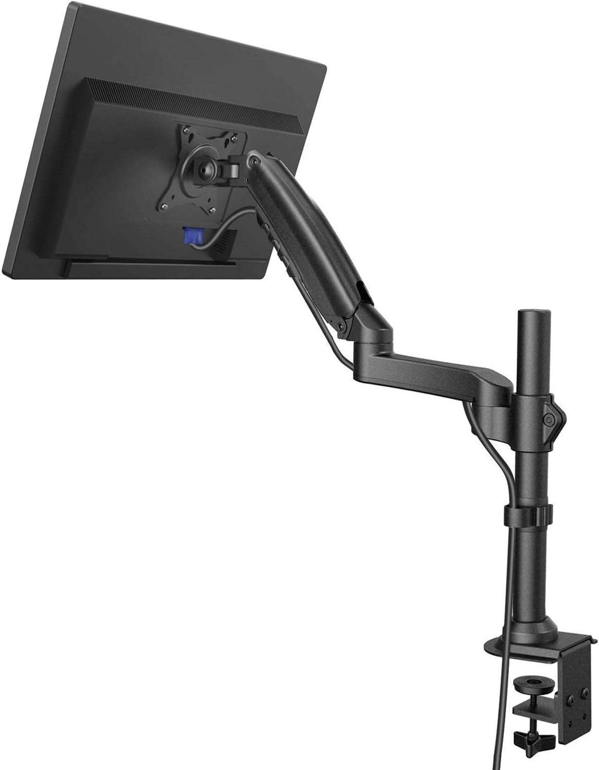 ErGear Support de Moniteur pour /écran 13-32 avec mouvement Hauteur r/églable Support de moniteur de bureau Inclinaison du bras 85/°//-30/° Pivotement 180/° Rotation 360/°Poids max 9KG VESA 75//100mm