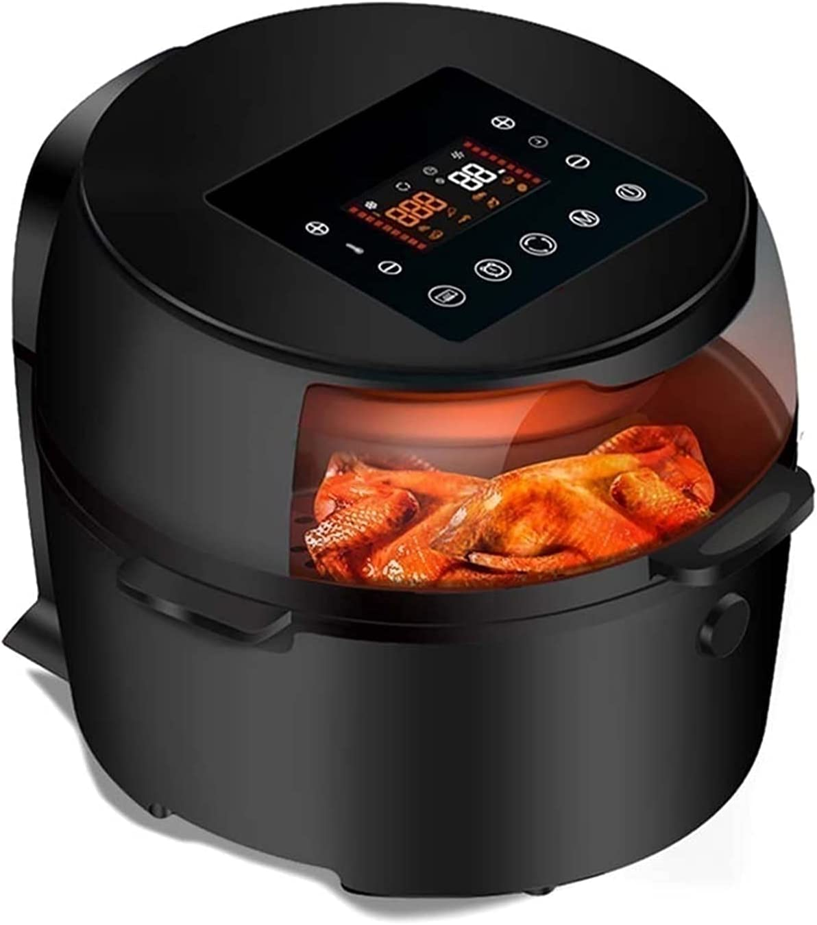 Electric Oven Air Fryer, Multifunction Deep Fryer Oil Free Home Intelligent Health Functional Food 8L Large Capacity (Color : Black) Oil-free healthy cookware