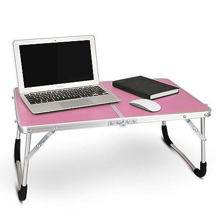 Mesita de noche con soporte para ordenador portátil, mesa plegable portátil, bandeja de desayuno