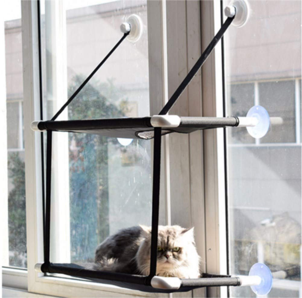 Double GBJ-1 Cat Hammock Window Sunny Seat Resting Kitty Sill Cozy Cat Perch 1pc Pack (Double)